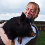 Louise and Berkshire Pig